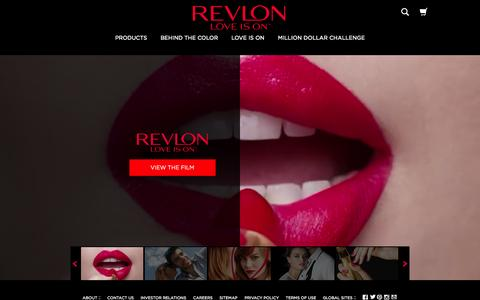 Screenshot of Home Page revlon.com - Revlon Products: Makeup, Hair Color, Nails, Beauty Tools - captured Oct. 1, 2015