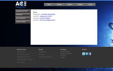 Screenshot of Press Page aceaquatec.com - News Viewer - captured Feb. 5, 2016