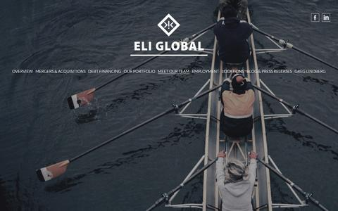 Screenshot of Team Page eliglobal.com - Our Team, Our Experts - Eli Global   Home - captured July 17, 2018