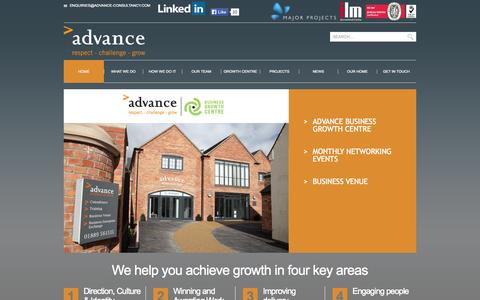 Screenshot of Home Page advance-consultancy.com - Advance Consultancy | - captured Oct. 8, 2014
