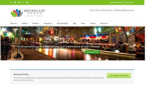 Screenshot of Home Page broadleafgroup.com - The Broadleaf Group | Citrix, Cisco, VMware, Microsoft reseller - captured Feb. 4, 2016