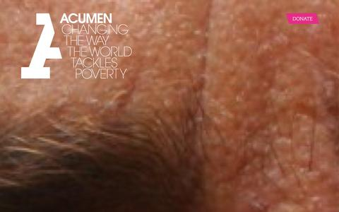 Screenshot of Home Page acumen.org - Acumen is a Bold New Way of Tackling Poverty - captured Jan. 16, 2016