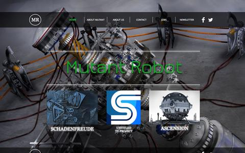 Screenshot of Terms Page mutant-robot.com - mutant-robot - captured Oct. 26, 2014