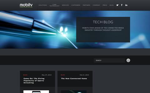 Screenshot of Blog mobitv.com - Mobitv - captured Sept. 16, 2014