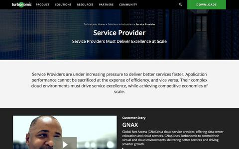 Service-Providers Data Center Solutions From VMTurbo