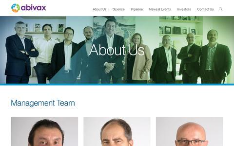 Screenshot of Team Page abivax.com - Our Team | Abivax - captured Nov. 22, 2018