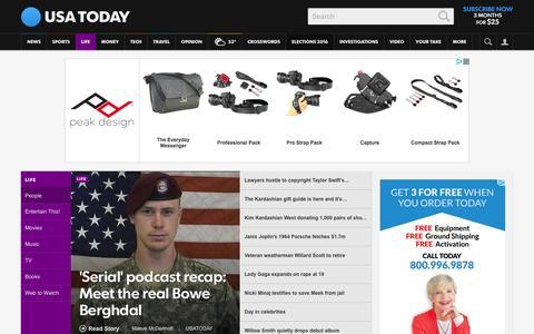 Screenshot of Team Page usatoday.com - Celebrity Photos, Videos and Interviews - USATODAY.com - captured Dec. 12, 2015
