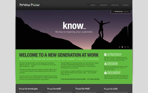 Screenshot of Home Page know-how-ltd.co.uk - Website design in Wokingham, Berkshire and Thames Valley - captured Oct. 6, 2014