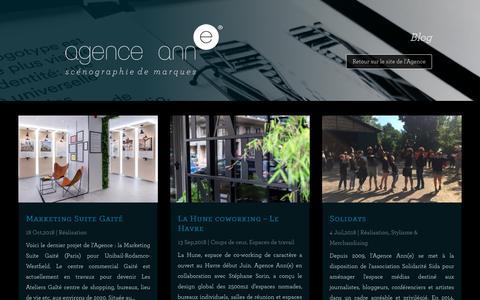 Screenshot of Blog agence-anne.fr - Blog - Agence Ann(e) - captured Nov. 6, 2018