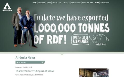 Screenshot of Press Page andusia.co.uk - News • Andusia - captured Oct. 3, 2018