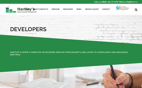 Screenshot of Developers Page hbcm.co - Developers - HBCM - captured Oct. 28, 2016