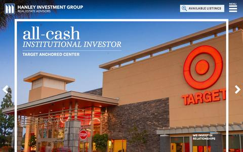 Screenshot of Home Page hanleyinvestmentgroup.com - Homepage - Hanley Investment Group - captured June 21, 2015