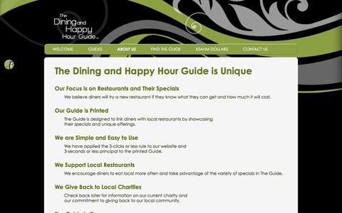 Screenshot of About Page xsahm.com - About the Dining and Happy Hour Guide | Xsahm - captured Feb. 15, 2016