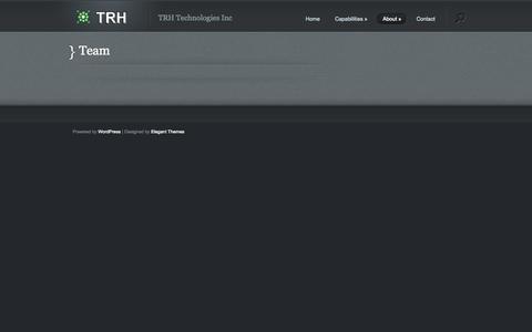 Screenshot of Team Page trh-tech.com - Team | trh-tech.com - captured Oct. 7, 2014