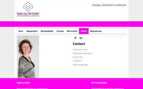 Screenshot of Contact Page ivettevanderlinden.nl - ivettevanderlinden.nl - captured Nov. 3, 2014