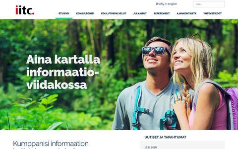 Screenshot of Home Page iitc.fi - Etusivu - IITC - captured Nov. 26, 2016