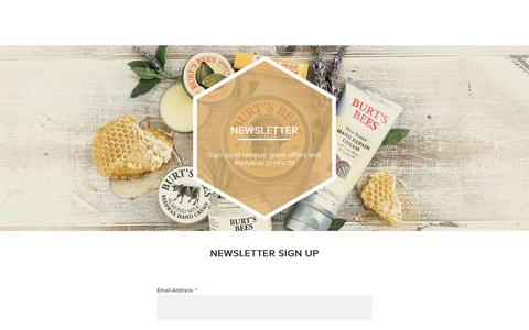Screenshot of Signup Page burtsbees.com.au - Newsletter | Burt's Bees AUS - captured Oct. 21, 2018