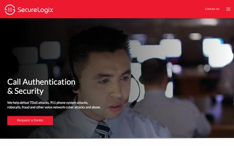 Screenshot of Home Page securelogix.com - Voice Security  | Phone System Security  | SecureLogix - captured Sept. 21, 2018