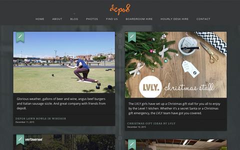 Screenshot of Blog depo8.com - depo8 Coworking blog - captured Jan. 8, 2016
