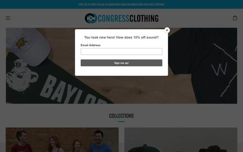 Screenshot of Home Page congressclothing.com - Congress Clothing - captured July 21, 2018