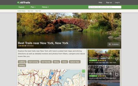 Screenshot of alltrails.com - Best Trails near New York, New York  | AllTrails.com - captured March 5, 2017
