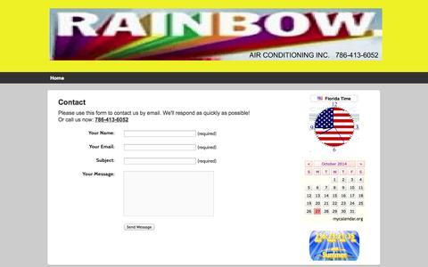 Screenshot of Contact Page rainbowac.com - Contact | RAINBOW AIR CONDITIONING INC. - captured Oct. 27, 2014