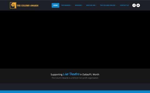 Screenshot of Home Page thecolumnawards.org - The Column Awards - captured Dec. 21, 2018