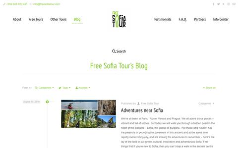 Screenshot of Blog freesofiatour.com - Blog - Stay up to date with our activities | Free Sofia Tour - captured Aug. 22, 2018