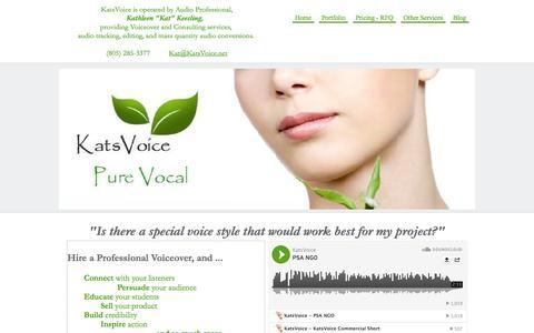 Screenshot of Home Page katsvoice.com - KatsVoice Home Page - captured Sept. 30, 2014