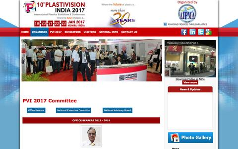 Screenshot of Team Page plastivision.org - PVI 2017 Committee - captured Oct. 2, 2014