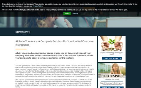 Screenshot of Products Page altitude.com - Customer Care Software &  Unified Customer Interactions Solution By Altitude Software | Altitude Software - captured Sept. 19, 2018