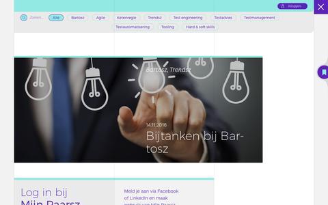 Screenshot of Blog bartosz.nl - Blog - Bartosz - captured Nov. 22, 2016