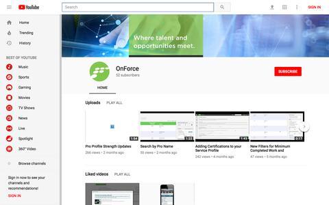 OnForce - YouTube - YouTube