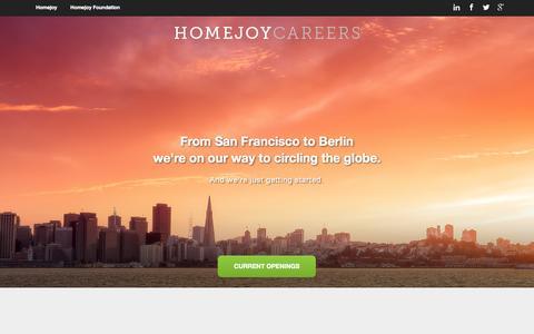 Screenshot of Jobs Page homejoy.com - Homejoy Careers - captured Sept. 16, 2014