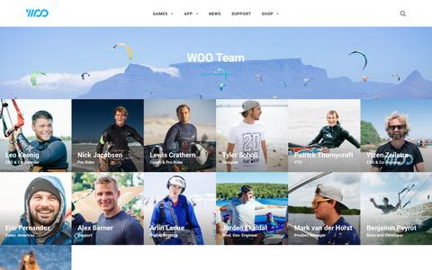 Screenshot of Team Page woosports.com - Team – WOO Sports - captured May 9, 2017