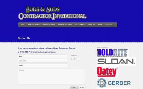 Screenshot of Contact Page fishbudsandsuds.com - Contact Us   fishbudsandsuds.com - captured Oct. 5, 2014