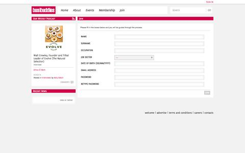 Screenshot of Signup Page busibuddies.com - Join | Busibuddies - captured Sept. 30, 2014