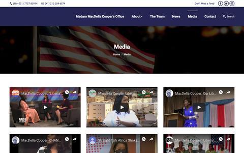 Screenshot of Press Page macdellacooper.org - Media – The Office Of MacDella Cooper - captured Nov. 16, 2018