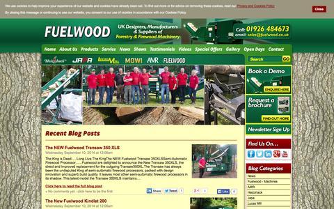 Screenshot of Blog Press Page fuelwood.co.uk - Recent Blog Posts - captured Oct. 25, 2014