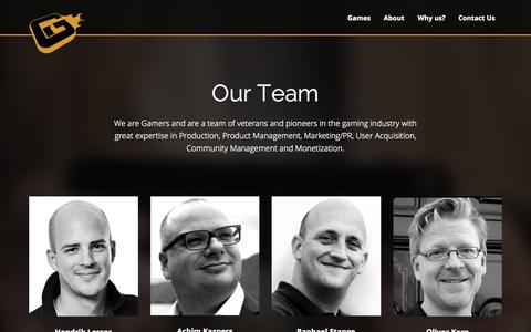 Screenshot of Team Page gamesinflames.com - Team - Games In Flames - captured July 19, 2015