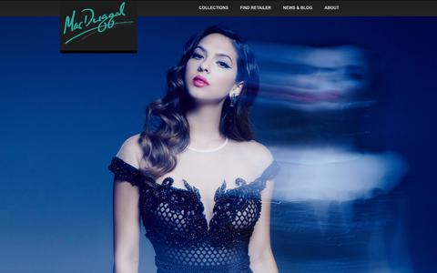 Screenshot of Home Page macduggal.com - Prom Dresses, Pageant Wear, Couture Dresses | Mac Duggal - captured Dec. 12, 2015