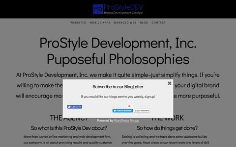 Screenshot of About Page prostyledev.com - About Us | ProStyle Development, Inc. - captured Jan. 16, 2018