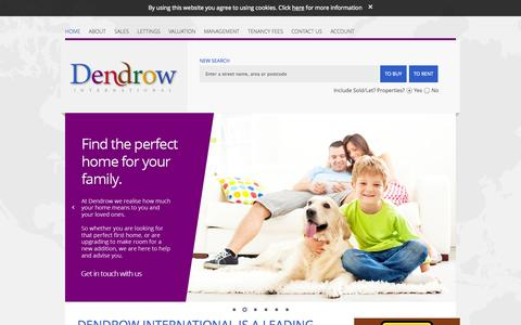 Screenshot of Home Page dendrow.com - Dendrow | Central, Paddington Sales and Lettings Estate Agents and Property Management - captured Jan. 24, 2015