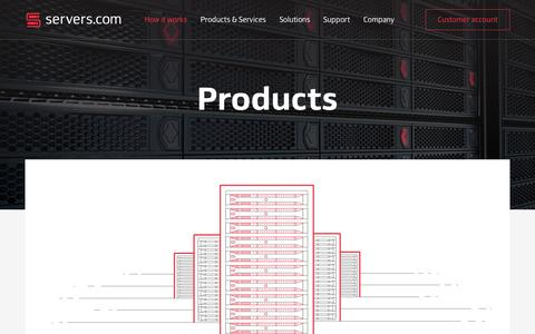 Screenshot of Products Page servers.com - Products | How it works | Servers.com - captured Jan. 28, 2017