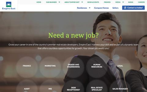 Screenshot of Jobs Page empire-east.com - Empire East Land Holdings Inc. - Philippines | Careers - captured July 6, 2018