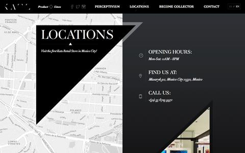 Screenshot of Locations Page isaac-katz.com - Locations | Isaac Katz Official Site - captured Nov. 17, 2015