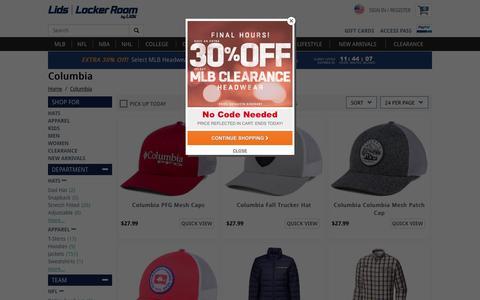 Columbia Jackets, Hats and Apparel | lids.com