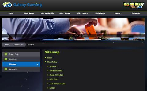 Screenshot of Site Map Page galaxygaming.com - Sitemap - captured Feb. 19, 2018