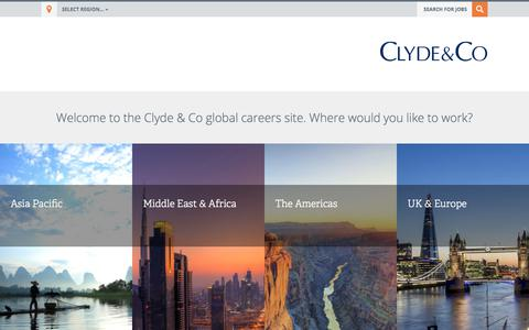 An altogether ambitious firm : Clyde & Co Careers