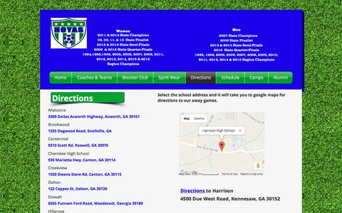 Screenshot of Maps & Directions Page harrisonhoyasoccer.com - harrisonhoyasoccer | Directions - captured March 23, 2017